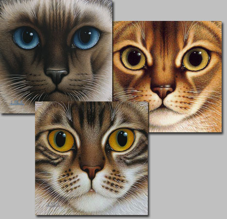 Braldt Bralds - NINE LIVES SUITE-2 SIAMESE/ABYSSINIAN/MAINE COON -  L.E.PRINT Published by the Greenwich Workshop
