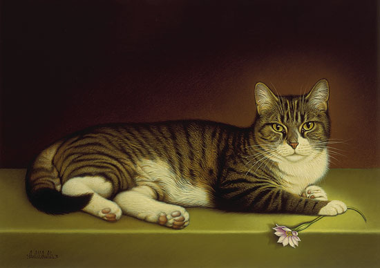 Braldt Bralds - MISS KITTY -  LIMITED EDITION PRINT Published by the Greenwich Workshop