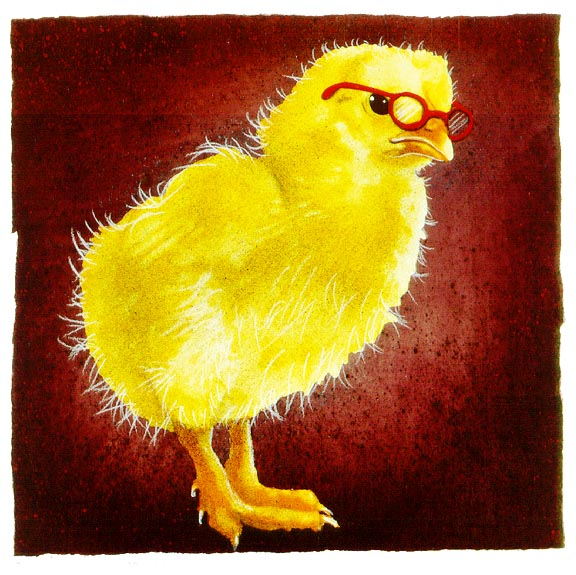 Will Bullas - a chick with brains... -  LIMITED EDITION PRINT Published by the Greenwich Workshop