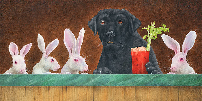 Will Bullas - the hare of the dog... -  LIMITED EDITION CANVAS Published by the Greenwich Workshop