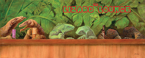 the Lizard Lounge<br> LIMITED EDITION CANVAS