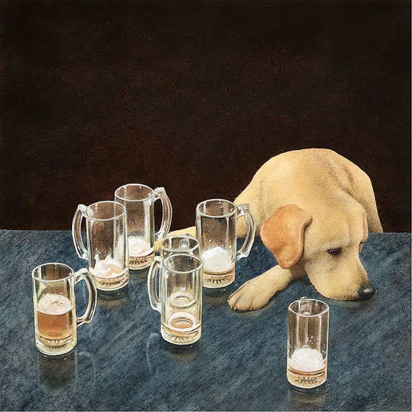 Will Bullas - what´s that in dog beers? -  LIMITED EDITION CANVAS Published by the Greenwich Workshop