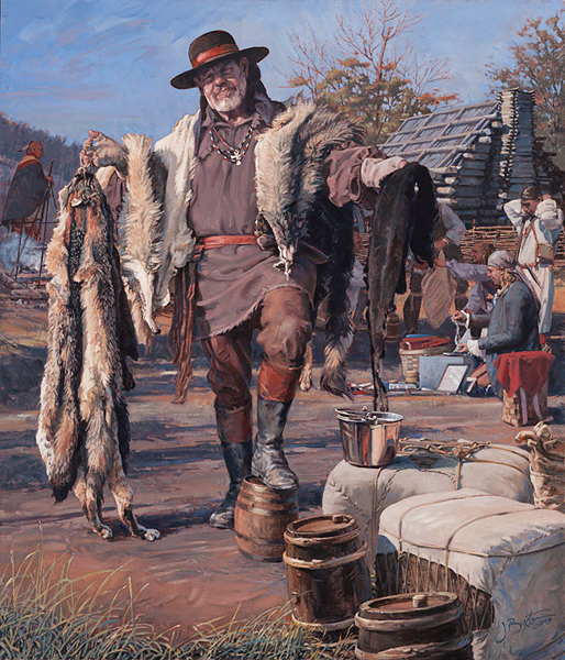 John Buxton - The Fur Trader -  LIMITED EDITION CANVAS Published by the Greenwich Workshop