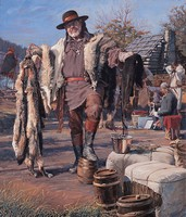 The Fur Trader<br> LIMITED EDITION CANVAS