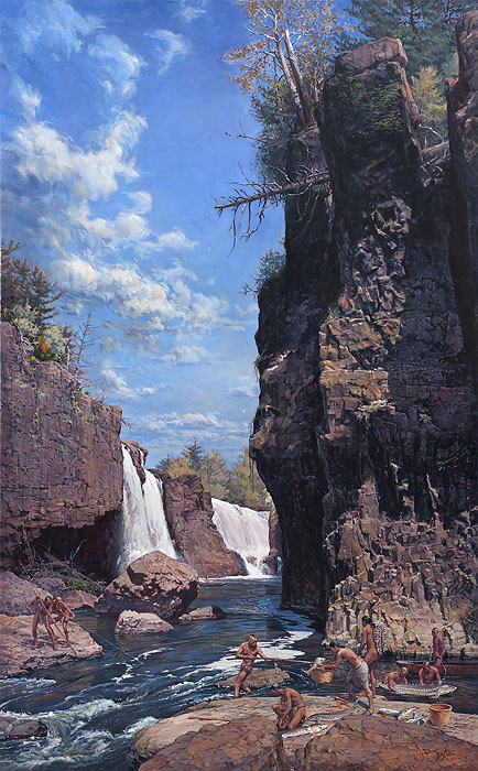 John Buxton - Great Falls of the Passaic -  LIMITED EDITION CANVAS Published by the Greenwich Workshop