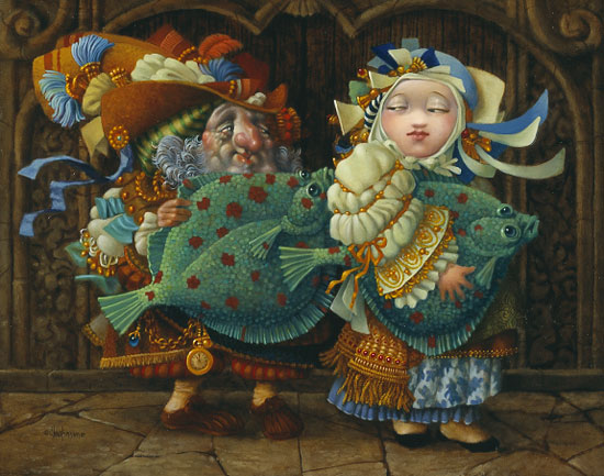 James C. Christensen - YOUR PLAICE OR MINE? -  LIMITED EDITION PRINT Published by the Greenwich Workshop