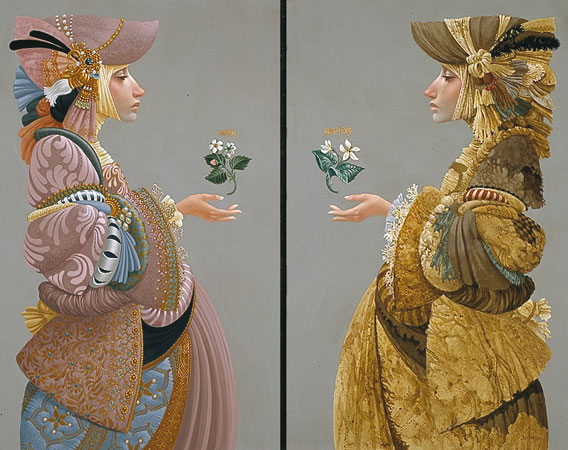 James C. Christensen - TWO SISTERS -  LIMITED EDITION PRINT Published by the Greenwich Workshop
