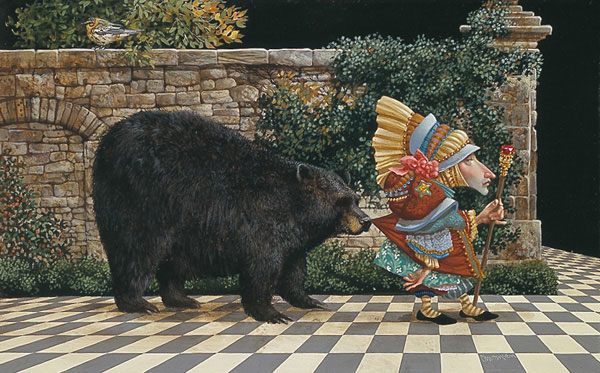 James C. Christensen - LAWRENCE PRETENDED NOT TO NOTICE THAT -  LIMITED EDITION PRINT Published by the Greenwich Workshop