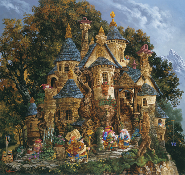 James C. Christensen - COLLEGE OF MAGICAL KNOWLEDGE (REMARQUE) -  L.E. PRINT Published by the Greenwich Workshop