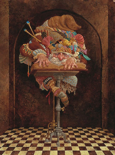 James C. Christensen - THE SCHOLAR -  LIMITED EDITION PRINT Published by the Greenwich Workshop