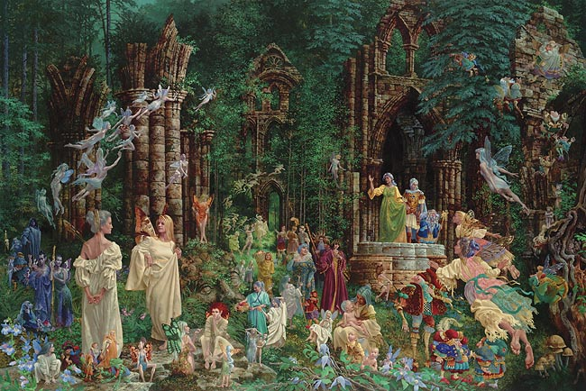 James C. Christensen - COURT OF THE FAERIES -  LIMITED EDITION PRINT Published by the Greenwich Workshop