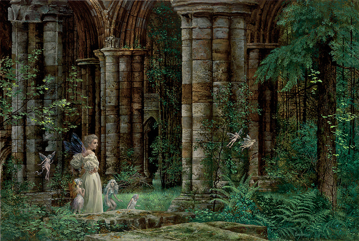 James C. Christensen - QUEEN MAB IN THE RUINS -  LIMITED EDITION PRINT Published by the Greenwich Workshop
