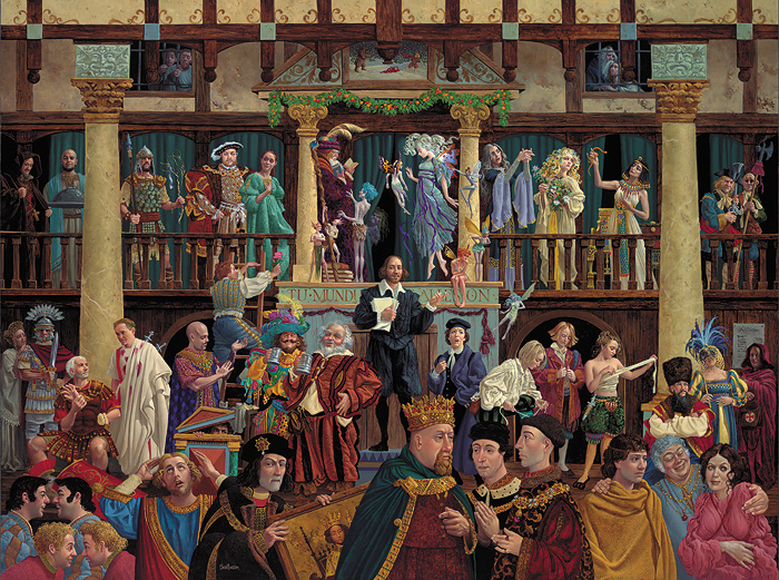 James C. Christensen - ALL THE WORLD´S A STAGE -  LIMITED EDITION PRINT Published by the Greenwich Workshop
