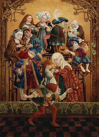 James C. Christensen - SHARING OUR LIGHT -  LIMITED EDITION PRINT Published by the Greenwich Workshop