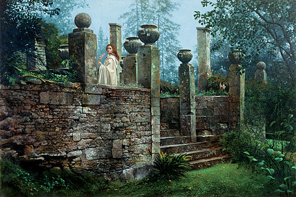 James C. Christensen - GARDEN RENDEZVOUS -  LIMITED EDITION PRINT Published by the Greenwich Workshop