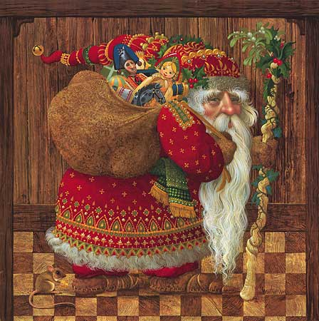 James C. Christensen - Olde World Santa -  ANNIVERSARY EDITION Published by the Greenwich Workshop