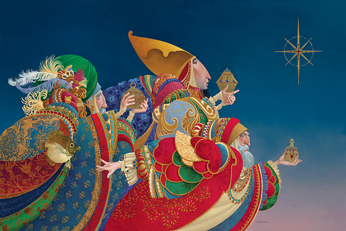 James C. Christensen - WE THREE KINGS... -  LIMITED EDITION CANVAS Published by the Greenwich Workshop