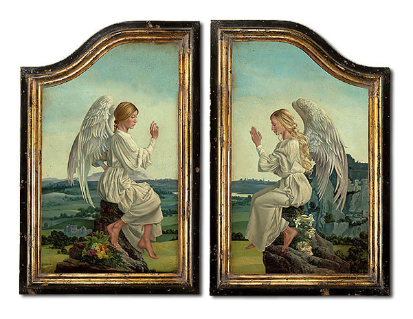 James C. Christensen - The Enoch Altarpiece Framed -  LIMITED EDITION CANVAS Published by the Greenwich Workshop