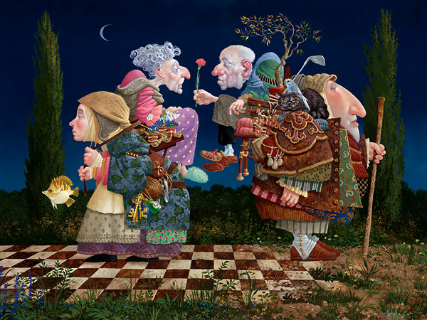 James C. Christensen - Twilight -  LIMITED EDITION CANVAS Published by the Greenwich Workshop