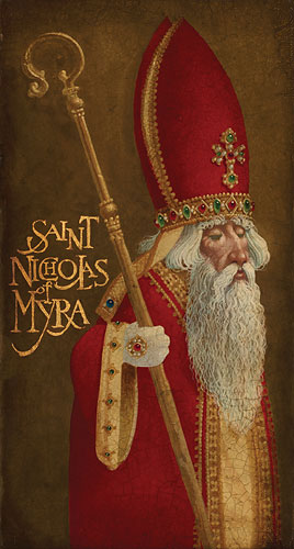 James C. Christensen - St. Nicholas of Myra -  LIMITED EDITION CANVAS Published by the Greenwich Workshop