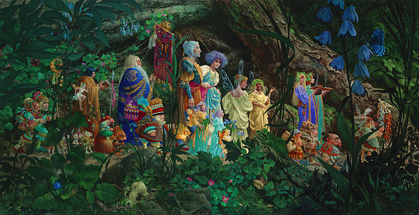 James C. Christensen - The Royal Processional -  MASTERWORK ANNIVERSARY EDITION Published by the Greenwich Workshop