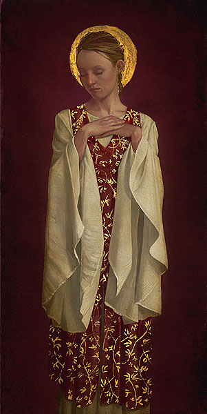James C. Christensen - Saint with White Sleeves -  LIMITED EDITION PRINT Published by the Greenwich Workshop