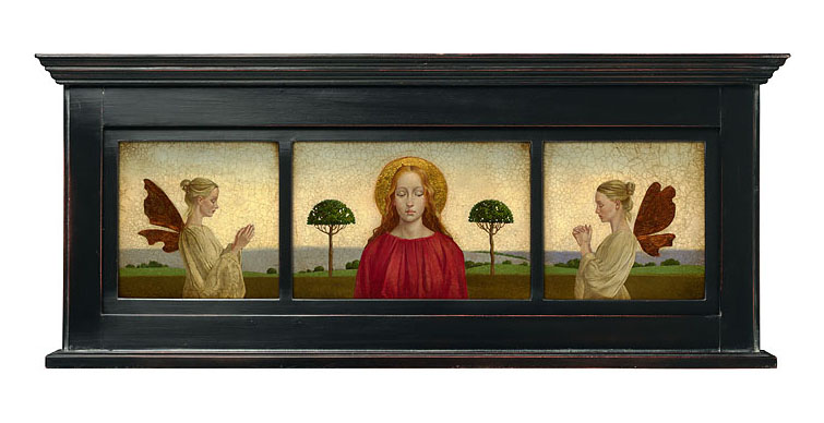 James C. Christensen - Madonna with Two Angels framed -  LIMITED EDITION CANVAS Published by the Greenwich Workshop