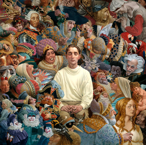 James C. Christensen - The Listener -  LIMITED EDITION PRINT Published by the Greenwich Workshop