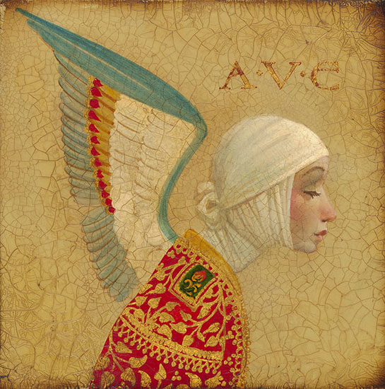 James C. Christensen - Angel with Epaulet -  LIMITED EDITION CANVAS Published by the Greenwich Workshop