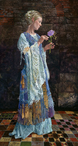 James C. Christensen - The Beggar Princess and the Magic Rose -  LIMITED EDITION CANVAS Published by the Greenwich Workshop