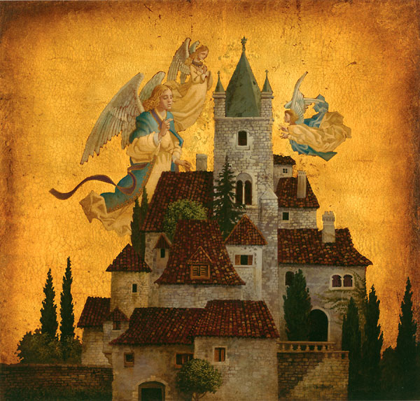 James C. Christensen - Angels of My Village -  LIMITED EDITION PRINT Published by the Greenwich Workshop