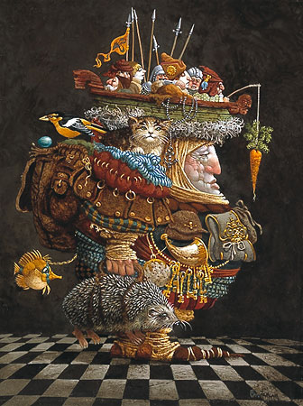 James C. Christensen - The Burden of the Responsible Man -  ANNIVERSARY EDITION Published by the Greenwich Workshop
