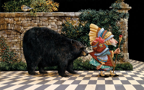 James C. Christensen - Lawrence Pretended Not to Notice That a Bear Had Become -  ANNIVERSARY EDITION Published by the Greenwich Workshop