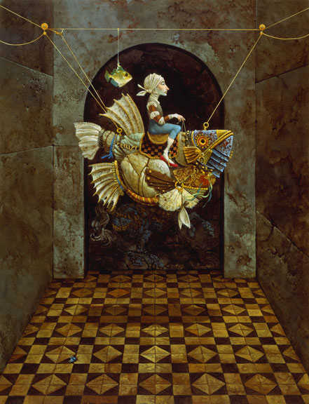 James C. Christensen - False Magic -  LIMITED EDITION CANVAS Published by the Greenwich Workshop