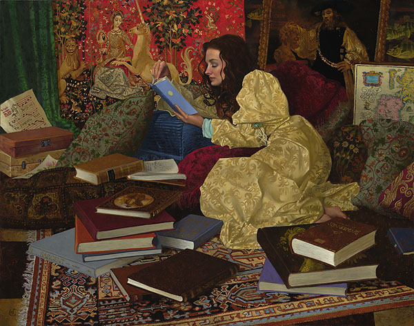 James C. Christensen - A Place of Her Own -  LIMITED EDITION CANVAS Published by the Greenwich Workshop