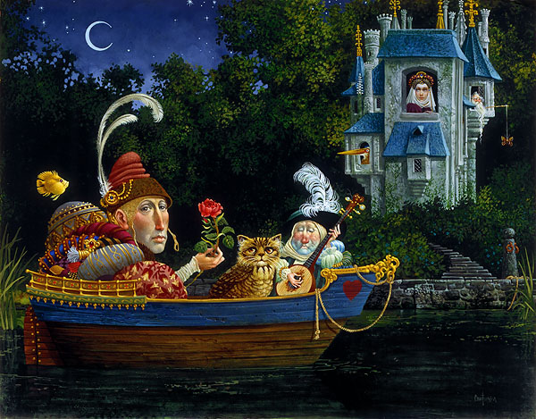 James C. Christensen - Courtship -  LIMITED EDITION CANVAS Published by the Greenwich Workshop