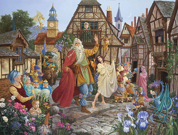 James C. Christensen - The Return of the Fablemaker -  LIMITED EDITION CANVAS Published by the Greenwich Workshop