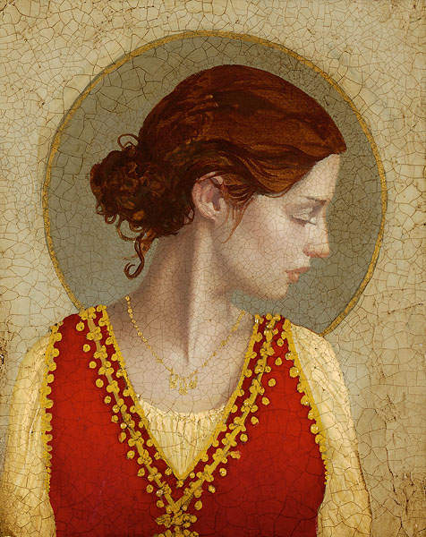 James C. Christensen - Saint Apollonia -  SMALLWORK CANVAS EDITION Published by the Greenwich Workshop