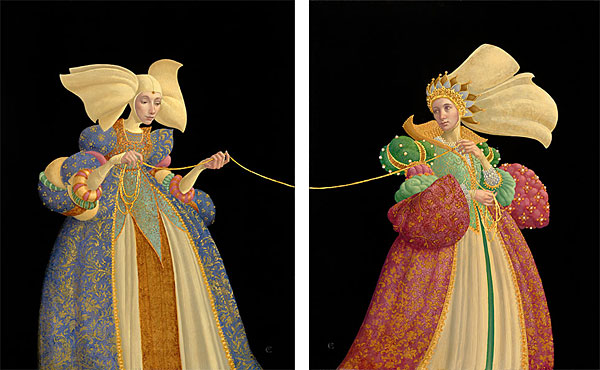 James C. Christensen - The Tie That Binds -  LIMITED EDITION PRINT DIPTYCH Published by the Greenwich Workshop