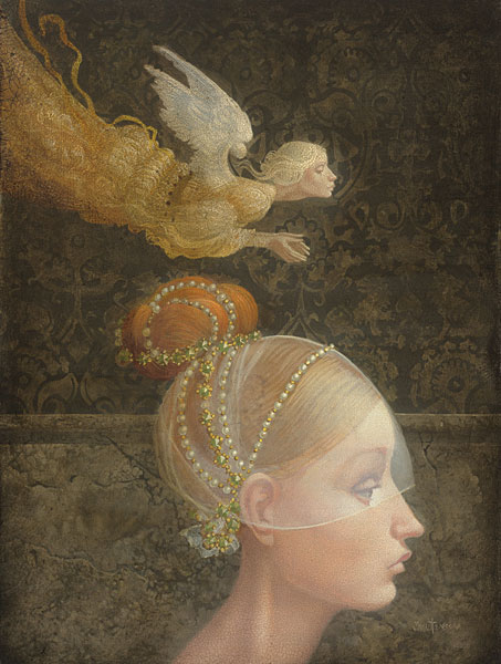 James C. Christensen - Angel Unobserved -  SMALLWORK CANVAS EDITION Published by the Greenwich Workshop