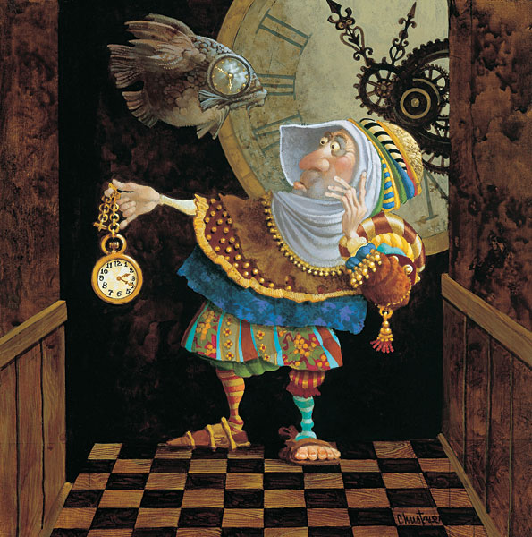 James C. Christensen - Tempus Fugit -  SMALLWORK CANVAS EDITION Published by the Greenwich Workshop