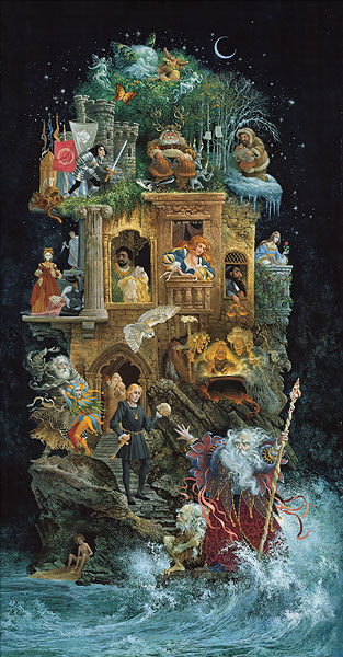 James C. Christensen - Shakespearean Fantasy -  MASTERWORK CANVAS EDITION Published by the Greenwich Workshop
