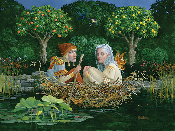 James C. Christensen - The Nest -  LIMITED EDITION CANVAS Published by the Greenwich Workshop