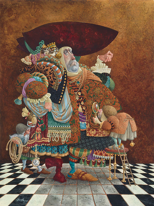 James C. Christensen - A Lawyer More than Adequately Attired in Fine Print -  ANNIVERSARY EDITION CANVAS Published by the Greenwich Workshop