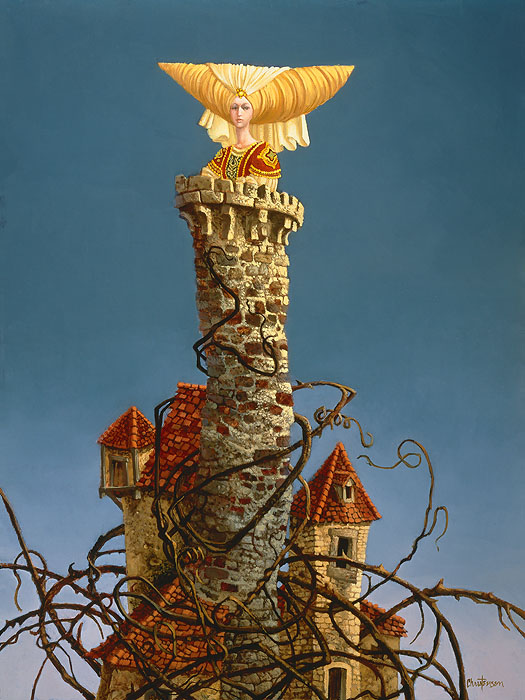 James C. Christensen - Princess in the Tower -  LIMITED EDITION CANVAS Published by the Greenwich Workshop