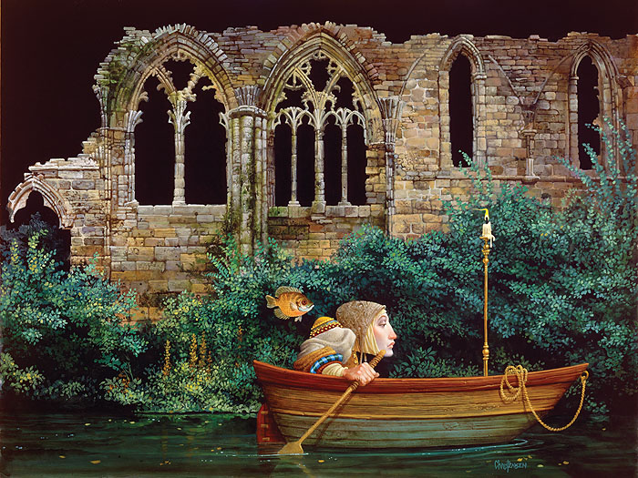 James C. Christensen - Passage by Faith -  LIMITED EDITION CANVAS Published by the Greenwich Workshop