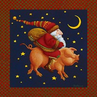 The Christmas Pig<br> SMALLWORK CANVAS EDITION