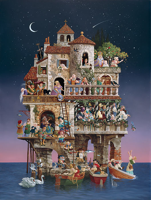 James C. Christensen - Superstitions -  ANNIVERSARY EDITION CANVAS Published by the Greenwich Workshop