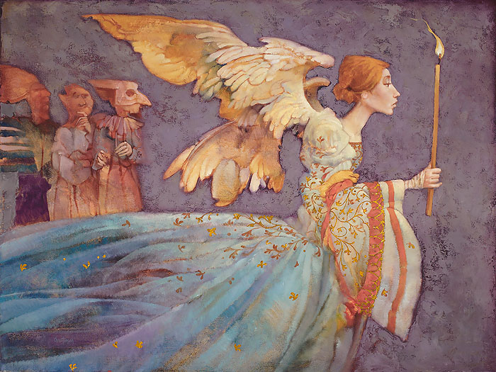 James C. Christensen - Angel -  LIMITED EDITION CANVAS Published by the Greenwich Workshop