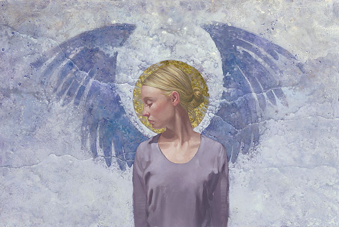 James C. Christensen - Angel Unaware -  ANNIVERSARY EDITION CANVAS Published by the Greenwich Workshop